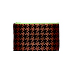 Houndstooth1 Black Marble & Copper Brushed Metal Cosmetic Bag (xs) by trendistuff