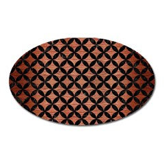 Circles3 Black Marble & Copper Brushed Metal (r) Magnet (oval) by trendistuff