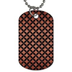 Circles3 Black Marble & Copper Brushed Metal (r) Dog Tag (one Side) by trendistuff