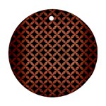 CIRCLES3 BLACK MARBLE & COPPER BRUSHED METAL Round Ornament (Two Sides) Front
