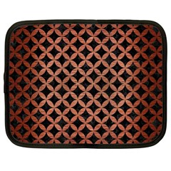 Circles3 Black Marble & Copper Brushed Metal Netbook Case (xl) by trendistuff