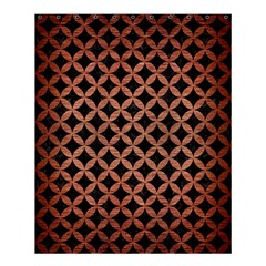 Circles3 Black Marble & Copper Brushed Metal Shower Curtain 60  X 72  (medium) by trendistuff