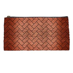 Brick2 Black Marble & Copper Brushed Metal (r) Pencil Case by trendistuff