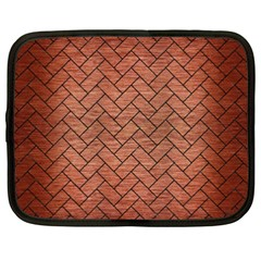 Brick2 Black Marble & Copper Brushed Metal (r) Netbook Case (xxl) by trendistuff