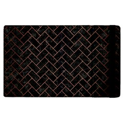 Brick2 Black Marble & Copper Brushed Metal Apple Ipad 2 Flip Case by trendistuff