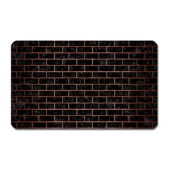 Brick1 Black Marble & Copper Brushed Metal Magnet (rectangular) by trendistuff