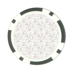 Elegant Seamless Floral Ornaments Pattern Poker Chip Card Guards by TastefulDesigns