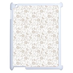 Elegant Seamless Floral Ornaments Pattern Apple Ipad 2 Case (white) by TastefulDesigns
