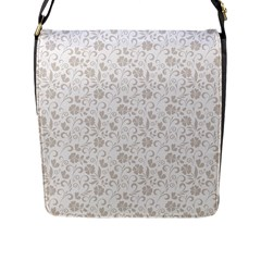 Elegant Seamless Floral Ornaments Pattern Flap Messenger Bag (l)  by TastefulDesigns
