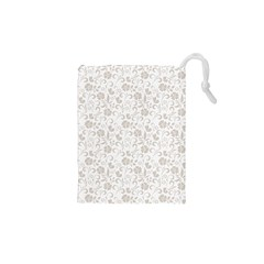 Elegant Seamless Floral Ornaments Pattern Drawstring Pouches (xs)  by TastefulDesigns