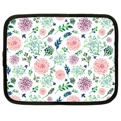 Hand Painted Spring Flourishes Flowers Pattern Netbook Case (xxl)  by TastefulDesigns