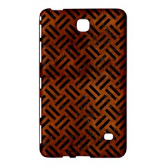 Woven2 Black Marble & Brown Burl Wood (r) Samsung Galaxy Tab 4 (8 ) Hardshell Case  by trendistuff