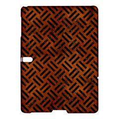 Woven2 Black Marble & Brown Burl Wood (r) Samsung Galaxy Tab S (10 5 ) Hardshell Case  by trendistuff