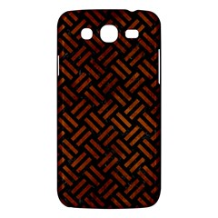 Woven2 Black Marble & Brown Burl Wood Samsung Galaxy Mega 5 8 I9152 Hardshell Case  by trendistuff