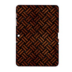 Woven2 Black Marble & Brown Burl Wood Samsung Galaxy Tab 2 (10 1 ) P5100 Hardshell Case  by trendistuff
