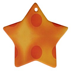 Sunny Happy Orange Dots Star Ornament (two Sides)  by yoursparklingshop