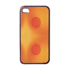 Sunny Happy Orange Dots Apple Iphone 4 Case (black) by yoursparklingshop