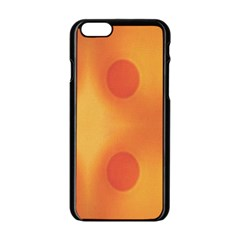 Sunny Happy Orange Dots Apple Iphone 6/6s Black Enamel Case by yoursparklingshop