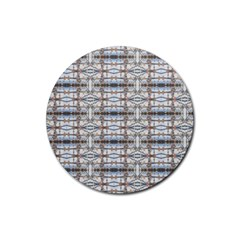Geometric Diamonds Rubber Coaster (round)  by yoursparklingshop
