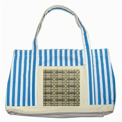 Geometric Diamonds Striped Blue Tote Bag by yoursparklingshop
