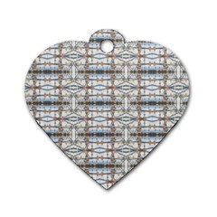 Geometric Diamonds Dog Tag Heart (two Sides) by yoursparklingshop