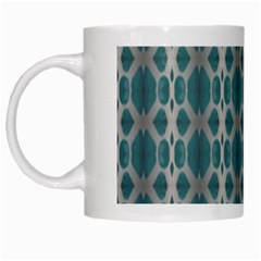 Tropical Blue Abstract Ocean Drops White Mugs by yoursparklingshop