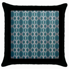 Tropical Blue Abstract Ocean Drops Throw Pillow Case (black) by yoursparklingshop
