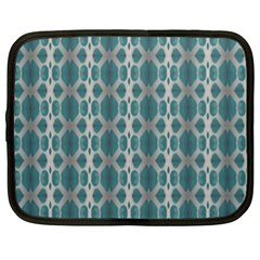Tropical Blue Abstract Ocean Drops Netbook Case (xl)  by yoursparklingshop