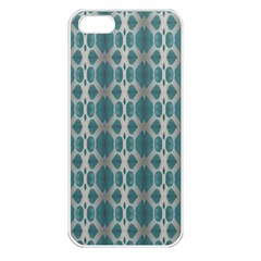 Tropical Blue Abstract Ocean Drops Apple Iphone 5 Seamless Case (white) by yoursparklingshop