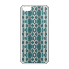 Tropical Blue Abstract Ocean Drops Apple Iphone 5c Seamless Case (white) by yoursparklingshop