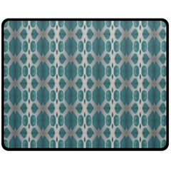 Tropical Blue Abstract Ocean Drops Double Sided Fleece Blanket (medium)  by yoursparklingshop