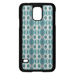 Tropical Blue Abstract Ocean Drops Samsung Galaxy S5 Case (black) by yoursparklingshop