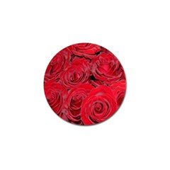 Red Roses Love Golf Ball Marker by yoursparklingshop