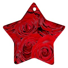Red Roses Love Star Ornament (two Sides)  by yoursparklingshop