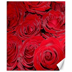 Red Roses Love Canvas 8  X 10  by yoursparklingshop