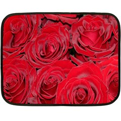 Red Roses Love Double Sided Fleece Blanket (mini)  by yoursparklingshop