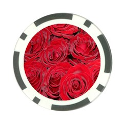 Red Roses Love Poker Chip Card Guards (10 Pack)  by yoursparklingshop