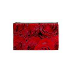 Red Roses Love Cosmetic Bag (small)  by yoursparklingshop