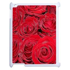 Red Roses Love Apple Ipad 2 Case (white) by yoursparklingshop