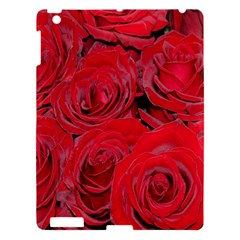 Red Roses Love Apple Ipad 3/4 Hardshell Case by yoursparklingshop