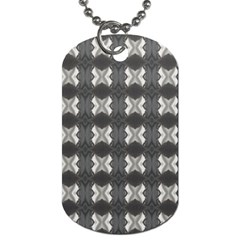 Black White Gray Crosses Dog Tag (one Side) by yoursparklingshop