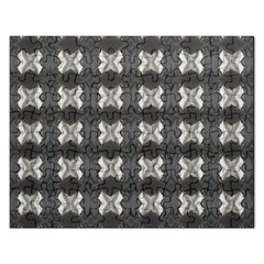 Black White Gray Crosses Rectangular Jigsaw Puzzl by yoursparklingshop