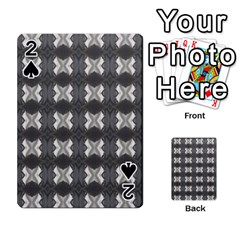 Black White Gray Crosses Playing Cards 54 Designs  by yoursparklingshop