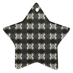 Black White Gray Crosses Star Ornament (two Sides)  by yoursparklingshop