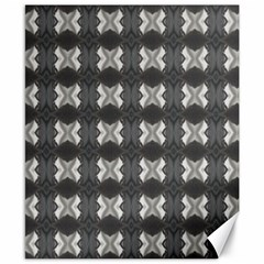 Black White Gray Crosses Canvas 8  X 10  by yoursparklingshop