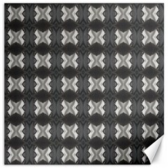 Black White Gray Crosses Canvas 12  X 12   by yoursparklingshop