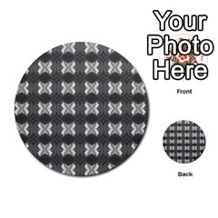 Black White Gray Crosses Multi Purpose Cards (round)  by yoursparklingshop