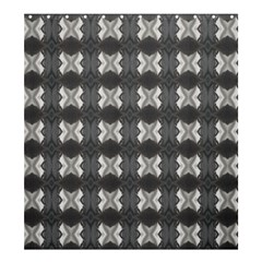 Black White Gray Crosses Shower Curtain 66  X 72  (large)  by yoursparklingshop