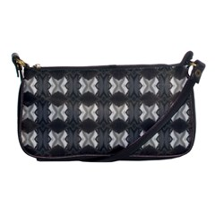 Black White Gray Crosses Shoulder Clutch Bags by yoursparklingshop