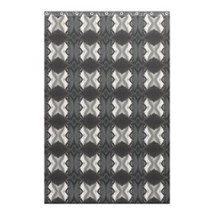Black White Gray Crosses Shower Curtain 48  X 72  (small)  by yoursparklingshop